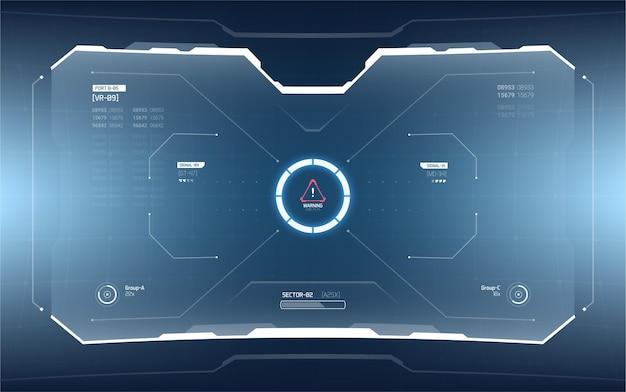 Conception d'écran d'interface futuriste hud