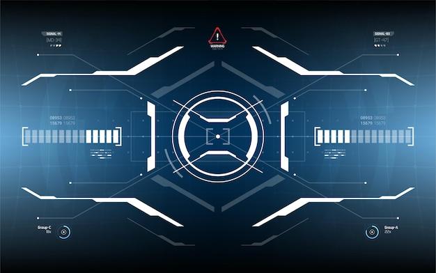 Conception d'écran d'interface utilisateur futuriste.