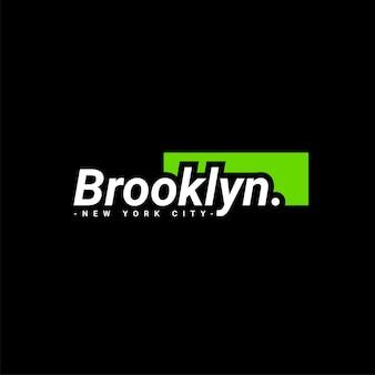 Conception d'écriture brooklyn, adaptée à la sérigraphie de t-shirts, vêtements, vestes et autres
