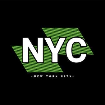Conception d'écriture de la ville de new york, adaptée à la sérigraphie de t-shirts, vêtements, vestes et autres