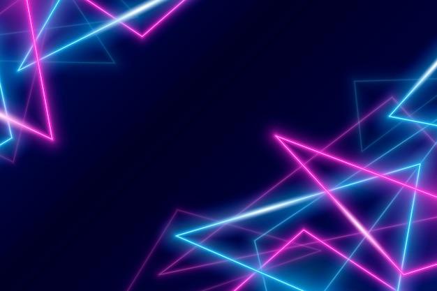 Conception d'effet de fond néon