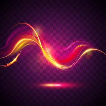 Conception d'effet de lumière rougeoyante.