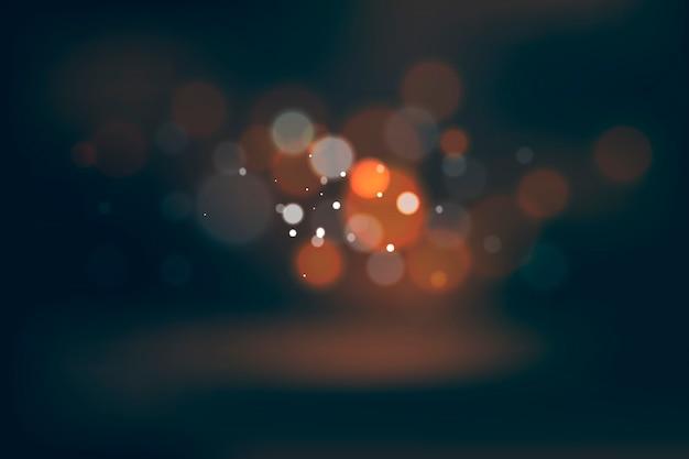 Conception d'effet de lumières bokeh sur fond sombre