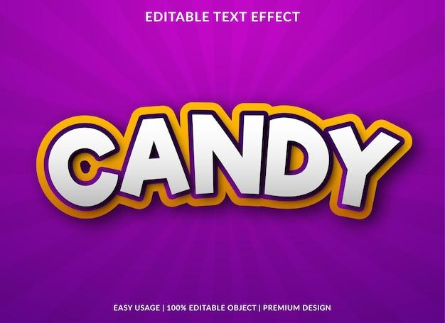 Conception d'effet de texte de bonbons avec un style audacieux