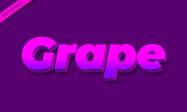 Conception d'effet de texte de fruit de raisin