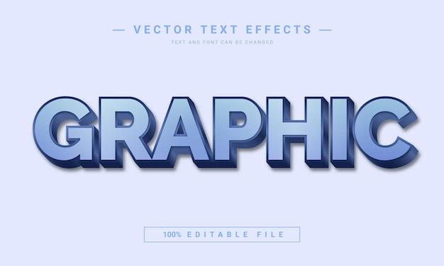 Conception d'effet de texte graphique modifiable en 3d