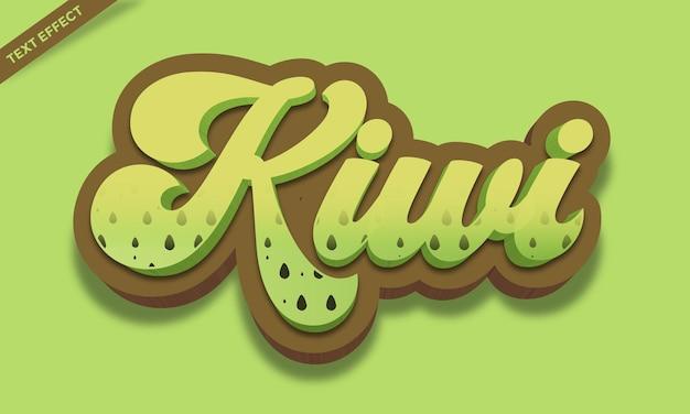 Conception d'effet de texte de kiwi