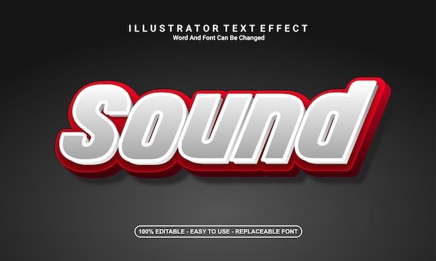 Conception d'effet de texte moderne, son
