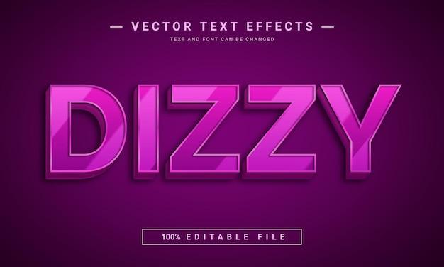 Conception d'effet de texte modifiable 3d brillant étourdi