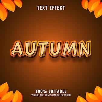 Conception d'effet de texte de saison d'automne