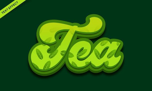 Conception d'effet de texte de thé vert