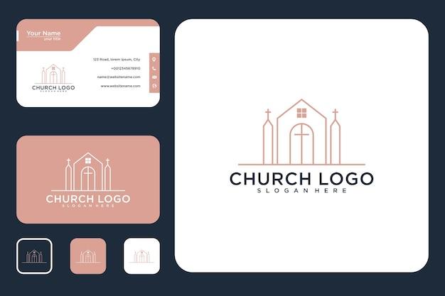 Conception d'église à la maison et carte de visite