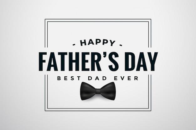 Conception élégante de carte de fête des pères heureux avec archet