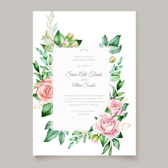 Conception élégante de carte de mariage floral