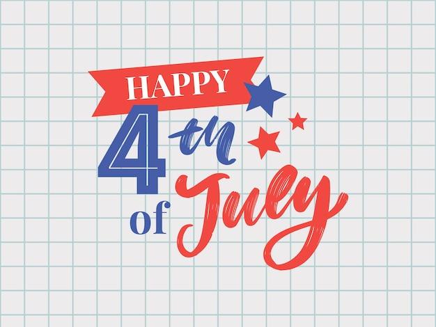 Conception élégante du jour de l'indépendance américaine du 4 juillet
