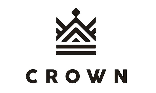 Conception élégante de logo de couronne / royal
