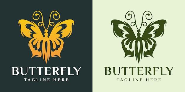 Conception élégante de logo de papillon