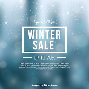 Conception élégante de vente d'hiver