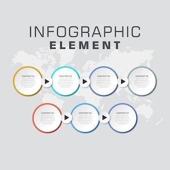 Conception d'élément infographique chronologie abstraite avec flèche
