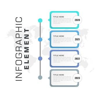 Conception d'élément infographique d'entreprise colorée