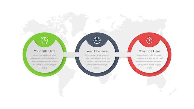 Conception d'élément infographique de stratégie d'entreprise
