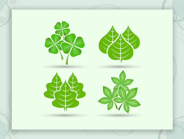 Conception d'élément de vecteur de feuille verte