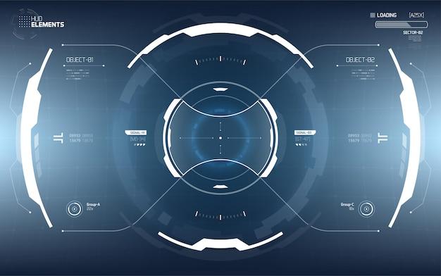 Conception d'éléments d'affichage tête haute futuriste.