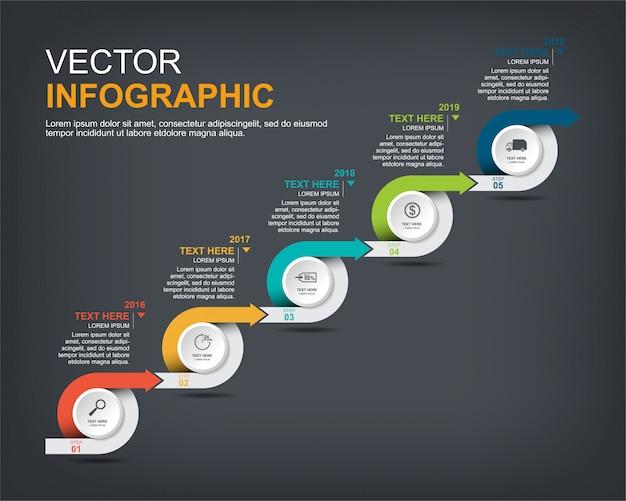 Conception d'éléments infographiques avec options