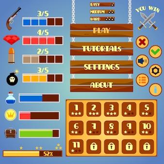Conception d'éléments d'interface de jeu