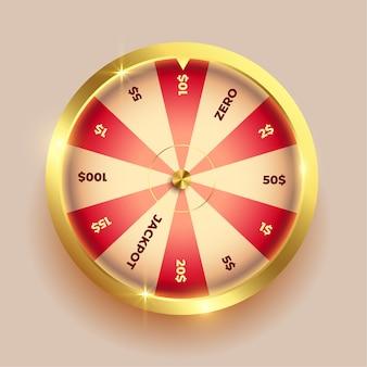 Conception des éléments de la roue d'or de la fortune