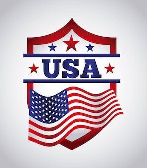 Conception de l'emblème des états-unis