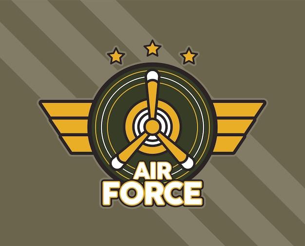 Conception d'emblème militaire de l'armée de l'air