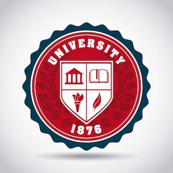 Conception d'emblème de l'université