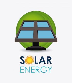 Conception de l'énergie solaire.