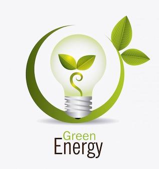 Conception d'énergie verte.