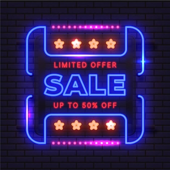 Conception d'enseigne de vente au néon