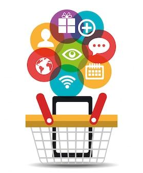 Conception d'entreprise de marketing numérique.