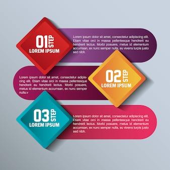 Conception d'entreprise de modèles d'infographie