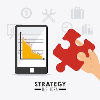 Conception d'entreprise de stratégie.