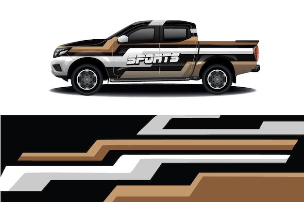 Conception d'enveloppe de décalque de voiture de camion