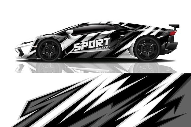 Conception d'enveloppe de décalque de voiture de sport