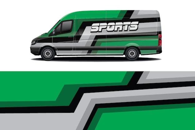 Conception d'enveloppe de décalque de voiture de van