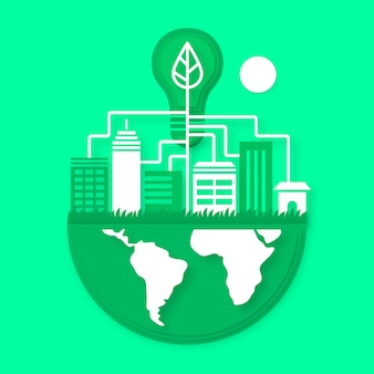 Conception environnementale dans le style du papier