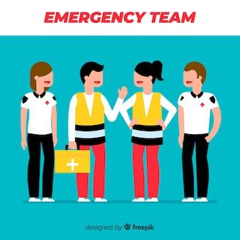 Conception de l'équipe du service d'urgence