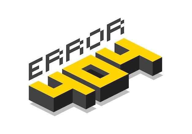 Conception d'erreur 404 isométrique. illustration de concept de vecteur pour la page 404. désolé, la page est perdue et message introuvable. modèle de page web avec erreur 404. design plat moderne avec texture de bruit. concept