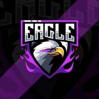 Conception d'esport de logo de mascotte d'aigle
