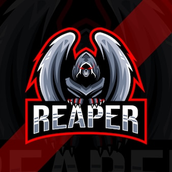 Conception d'esport logo mascotte reaper