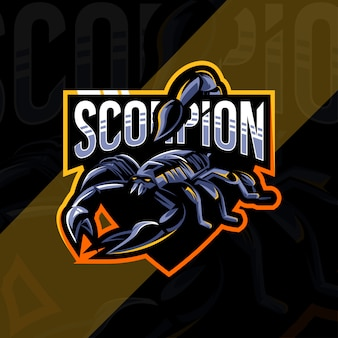 Conception d'esport logo mascotte scorpion