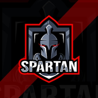 Conception d'esport logo mascotte spartiate