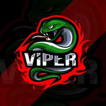 Conception d'esport logo mascotte vipère